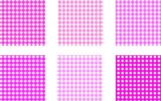 Various pink check patterns