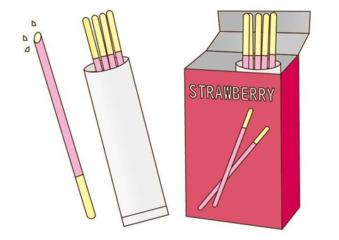 Strawberry flavored sweets