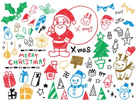 クリスマス手描き素材