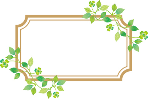 Plant decoration frame rectangle