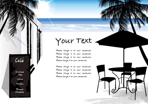 Open cafe Seaside coffee shop