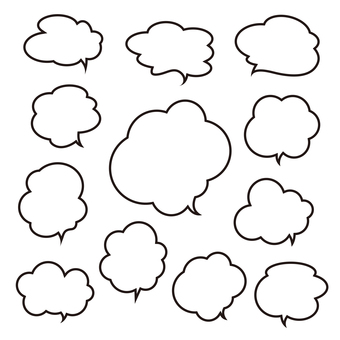 Speech bubble pattern various 4 (all 4 series)