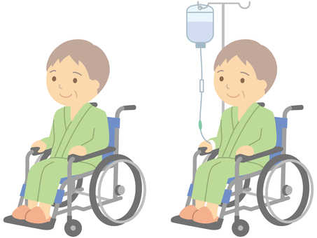 Wheelchair and patient