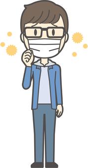 Junior high school student man-159-full body