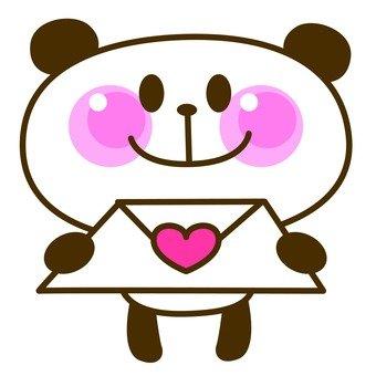 Panda love letter