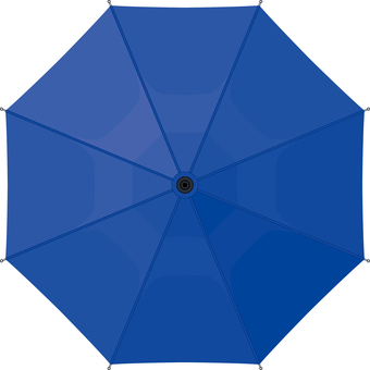 Umbrella seen from directly above Blue Blue