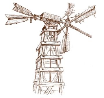 木製的風車