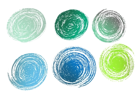 Icon Round Metallic 6 types Blue Green