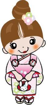 Three-year-old Shichigosan girl