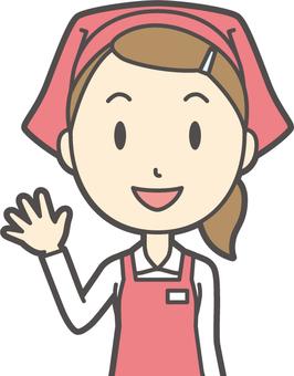 Female supermarket clerk-263-bust