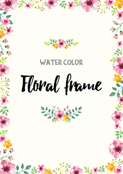 Watercolor Flower Frame 3
