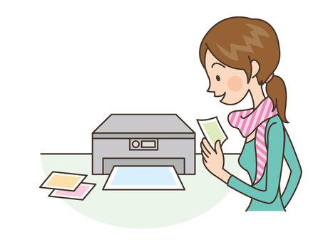 Person / Woman / Printer