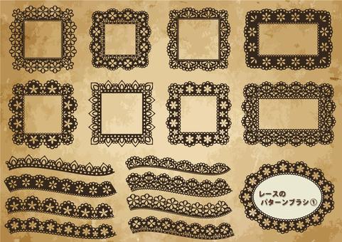 Lace pattern brush 1