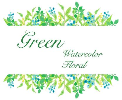 葉框架綠色