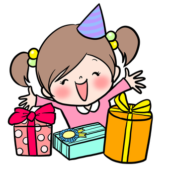 Girls happy birthday gifts