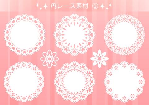 Circle lace material 1
