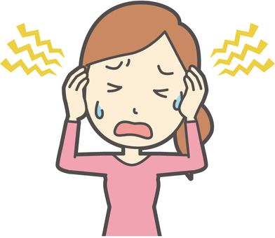 Female - 01 - headache - bust
