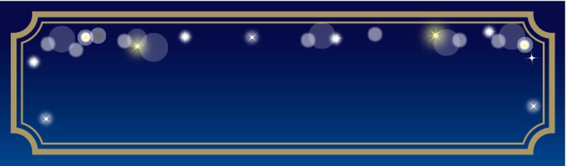 Sparkling decoration frame blue