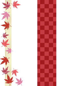 Japanese style autumn leaves