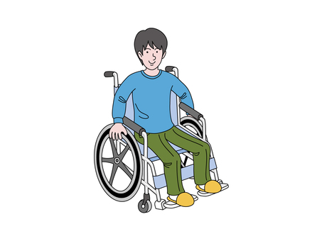 Male wheel chair