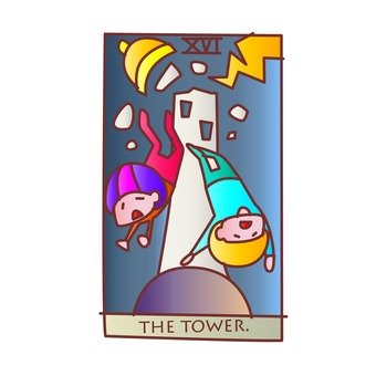 Tarot Card Tower