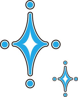 Illustration of glittering, shiny (blue)