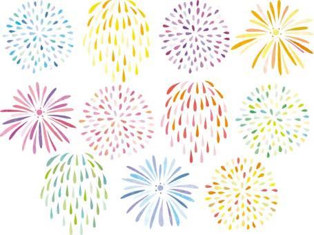 Fireworks handwriting set 04