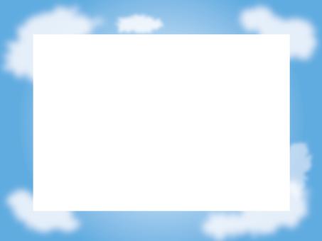 푸른 하늘에 흰 구름의 프레임