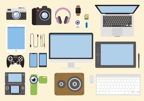 Digital equipment set