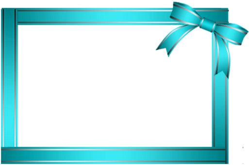 Light blue ribbon frame