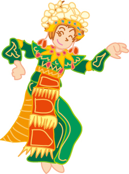 Bali dance women