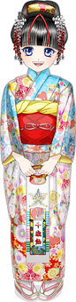 Shichigosan - · Smiley girl with Japanese style · Chitose candy whole body