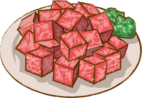 For beef dice steak