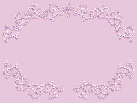 White clover frame E