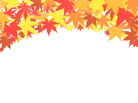 ai Autumn leaves background · wallpaper · frame