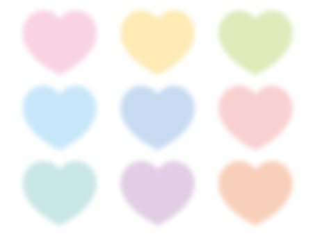 Fluffy heart of pastel color