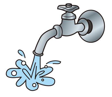 Broken water service