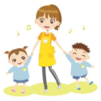 Çocuk bakımı sağlayıcı_ Kadın