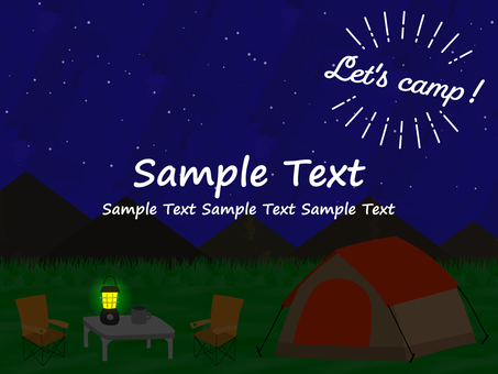 Camping background material (night)