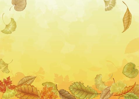 Fallen leaves illustration