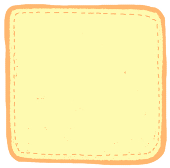 Yellow comment flake seal (square)