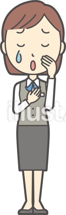 事務員ボブ女性-170-全身のイラスト