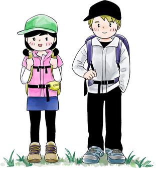 Hiking (man and woman)