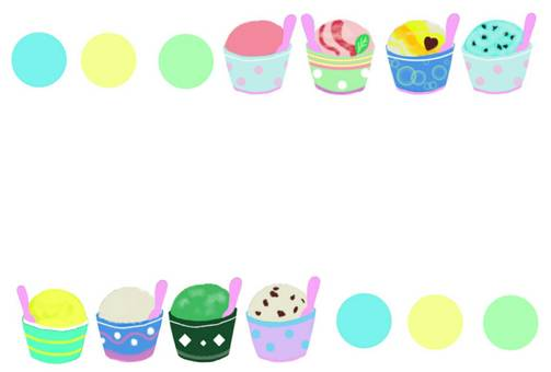 Ice cream frame summer assorted