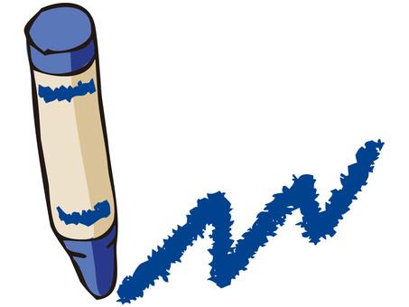 Crayon (blue)