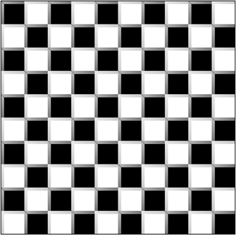 Checkered pattern three-dimensional