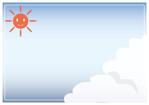 夏天的天空框架