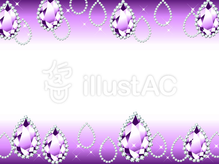 Free Cliparts : Jewel drop frame gem - 147689 | illustAC