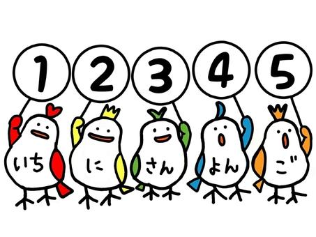 Number bird (1 to 5)