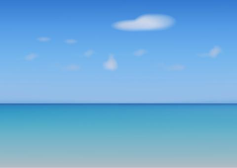 海和天空的例證
